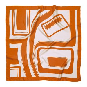 PS30034 300x300 - Pañuelo 100% seda, color naranja